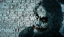 THE JOKER QUOTES BATMAN DARK KNIGHT WALL ART CANVAS PICTURE PRINT 20X30INCH