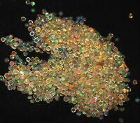 3 MM +25 pieces NATURAL ETHIOPIAN FIRE OPAL CABOCHON'S CALIBRATED PLAY COLOR