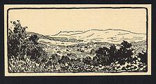 PROVENCE la plaine et les collines du Cap Camarat gravure années 30 /FN33
