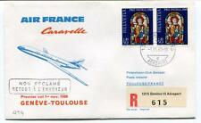 FFC 1969 Air France Caravelle First Flight Geneve Toulouse France REGISTERED
