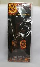 The Hunger Games Peeta Mellark & Mockingjay Dog Tags Ball Chain Necklace *New