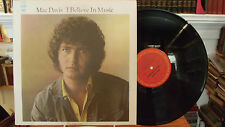 Mac Davis I Believe In Music, Signed/Autograph LP Record,Columbia Stereo C 30926
