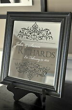 Personalized Family Name Mirror Laser Engraved 10x10