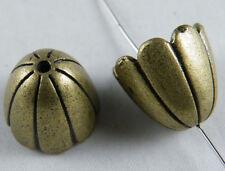15pcs Bronze Color Fancy Flower Bead Caps 17.5x17mm 12604