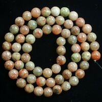 """Natural China Salmon Moss UNAKITE Jasper Gemstone Round Loose Beads 15"""""""