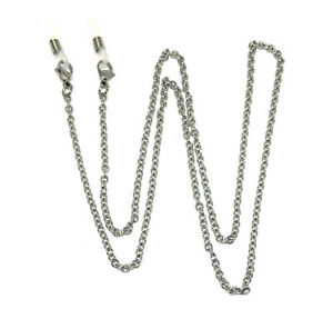 hypoallergenic stainless steel unisex eyeglass chain with extra cord ends