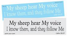 Bible Verse STENCIL My Sheep Hear Me Voice John Christian Family Home Art Signs
