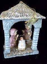 Nativity Goebel Porcelain Ornament Ashton Drake 2002 Heirloom Tag No Box
