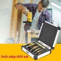 6pcs/set Woodworking British Twist Drill Bit Step Drills Tool for Drilling Holes