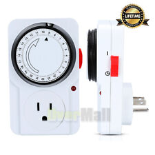 24 Hour Plug-in Wall Outlet Timer Switch NEW Heavy Duty Appliance FREE SHIPPING!