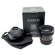 ROKINON 50mm T1.5 DSX Cine Lens - Canon EF (Matte Black)