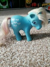 Vintage MY LITTLE PONY  BOWTIE Pink Blue Horse 1983 Hasbro Hong Kong