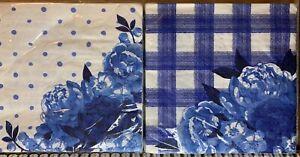 Pioneer Woman Paper Napkins Coordinates Frontier Rose & Heritage Floral X2