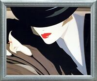 Mystique Nick Georgiou Vogue Exotic Lady Wall Art Silver Framed Picture (20x24)