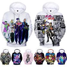 JoJo/'s Bizarre Adventure Hoodie Sweater Unisex casual Coat Cosplay Costume Tops