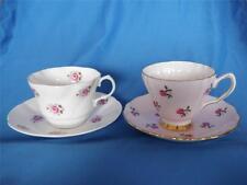 2 Collectible Bone China Rose Coffee Tea Cups Rosina Colclough England