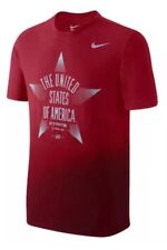 Nike Team Usa 2016 Olympic Reflective Running T-Shirt Red 801158-687 Men's L