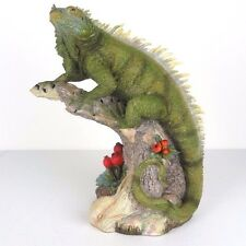 "Iguana Lizard Detailed Collectible Figurine Miniature Statue 10.5""H New in Box"