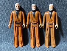 "Vintage 1977 Kenner Star Wars Obi-Wan Kenobi 3.75"" Figure White Hair LOT"