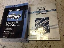 1997 Toyota Rav4 Rav 4 Service Shop Repair Manual SET W WIRING DIAGRAM EWD BOOK