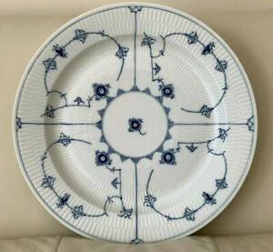 """Royal Copenhagen Blue Fluted Plain Round Platter / Chop Plate 14 3/8"""""""