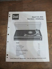 Dual KA 460 Service Manual TOP !!! Reinschauen !!!
