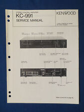 KENWOOD KC-991 PREAMP SERVICE MANUAL ORIGINAL FACTORY ISSUE GOOD CONDITION