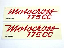 BSA 175 CC Motorcross decal peel and stick decals Bantam Trail Bronc Bushman