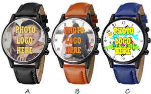 Personalised Custom Create Your Own Photo Cool Wrist Watch Logo Artwork FAST UK