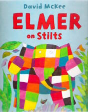 ELMER ON STILTS David McKee Brand New! TV large paperback Classic Collectable