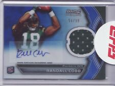 2011 Bowman Sterling Blue Refractor Jersey Autograph Randall Cobb 54/99 Auto