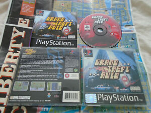Grand Theft Auto PS1 (COMPLETE WITH MAPS) Sony Playstation black label rare GTA
