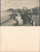 Ansichtskarte Laboe Stadt Hafen 1909