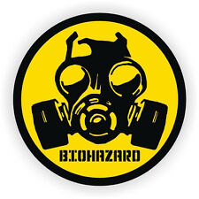 3pc Bio-Hazard Gas Mask Symbol Hard Hat Sticker/ Helmet Label Decal Zombie Virus