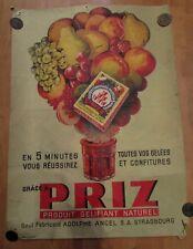 ancienne affiche antique poster pub publicitaire confiture priz jean lachaux