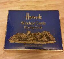 Harrods Windsor Castle Playing Cards Vintage Piatnik Double deck Austria