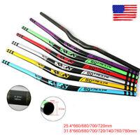 MTB Handlebar Carbon Fiber 31.8/25.4*660-760mm AL Extra Long Bar 31.8*780mm DH