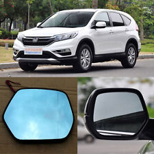 Rearview Mirror Blue Glasses LED Turn Signal with Power Heating For Honda CRV