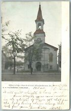 Elizabethtown Pa Bethel Of The Church Of God 1907 Antique Postcard w/ Cork Stamp