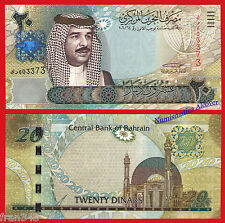 BAHRAIN BAREIN 20 Dinars dinares 2006 2008 Pick 29  SC / UNC