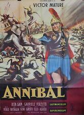 """""""ANNIBAL (ANNIBALE)"""" Affiche originale (Carlo L. BRAGAGLIA / Victor MATURE)"""
