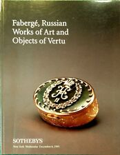 Sotheby's Catalog FABERGE, RUSSIAN ICONS & WORKS OF ART VERTU SILVER 12/1995 NY