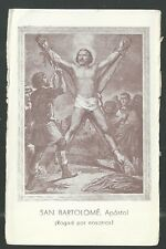 Holy card antique de San Bartolome Apostol santino image pieuse estampa