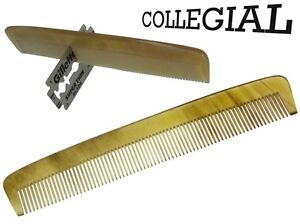 Dr.Dittmar Beard Comb - Collegial- Extra Fine 5 - Real Horn Germany
