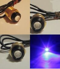 "BLUE LED BOAT PLUG LIGHT GARBOARD BRASS DRAIN 1/2"" NPT MARINE UNDERWATER FISH"
