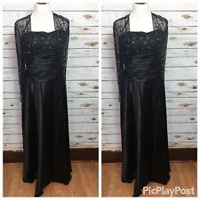 Cachet Womens Size 10 Black Beaded Full-Length Formal Evening Gown