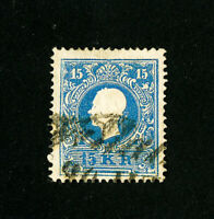 Austria Stamps # 11a XF Used Rare Scott Value $450.00