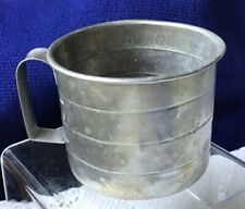 VIntage Aluminum 2 Cup Measuring Cup Embossed