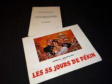 LES 55 JOURS DE PEKIN charlton heston niven scenario dossier presse cinema 1962