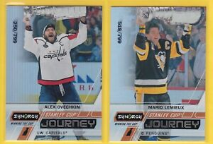 2020-21 SYNERGY MARIO LEMIEUX & ALEX OVECHKIN - WINNING THE CUP LOT  /799